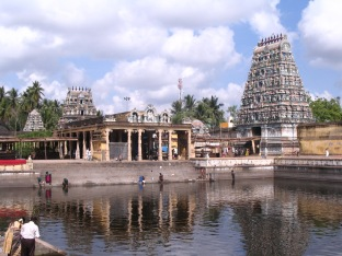 Gopuram & Brahma Theertham,Sirkazhi.